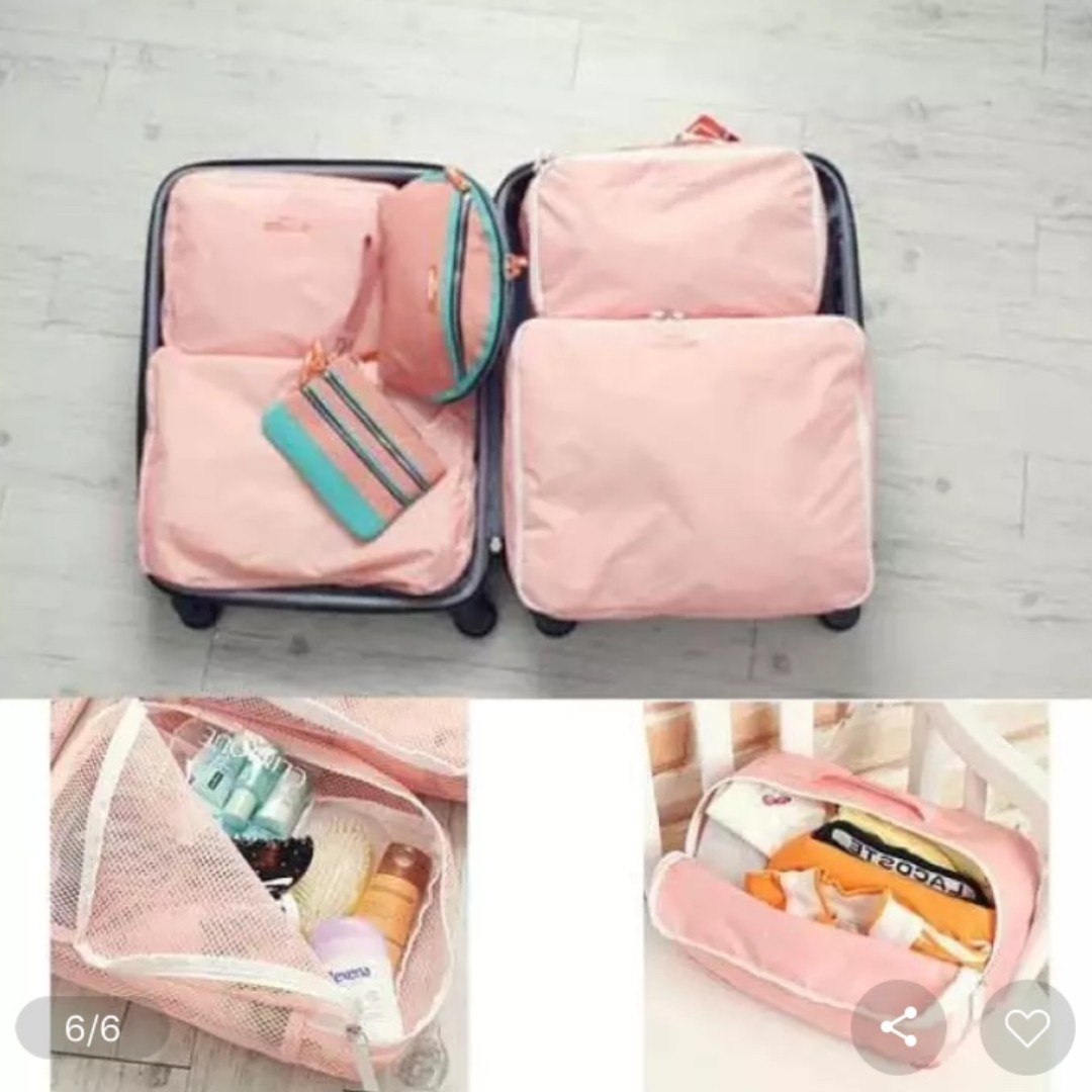Travel Luggage Organiser 5 In 1 Travel Organiser Luggage Organiser Bag Organiser Waterproof Bag Organiser Ulzzang Harajuku Lightweight Compactable Trending