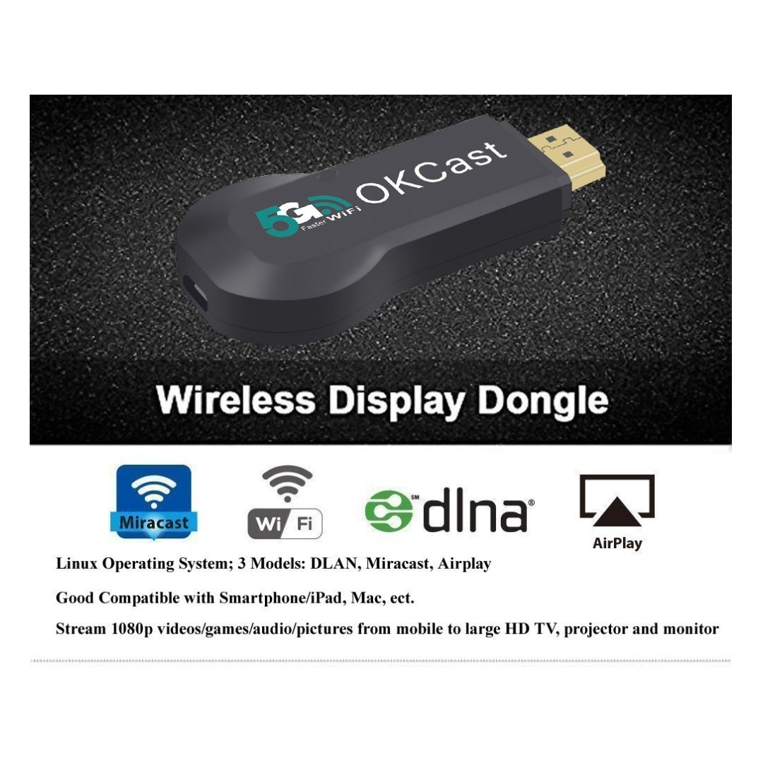 Samsung Beamer 704 Upgraded Miracast Dongle Foxcesd 5g Wireless Display Stick Hdmi Adapter Receiver Streaming Media Share Videos Images Docs From Iphone Ipad