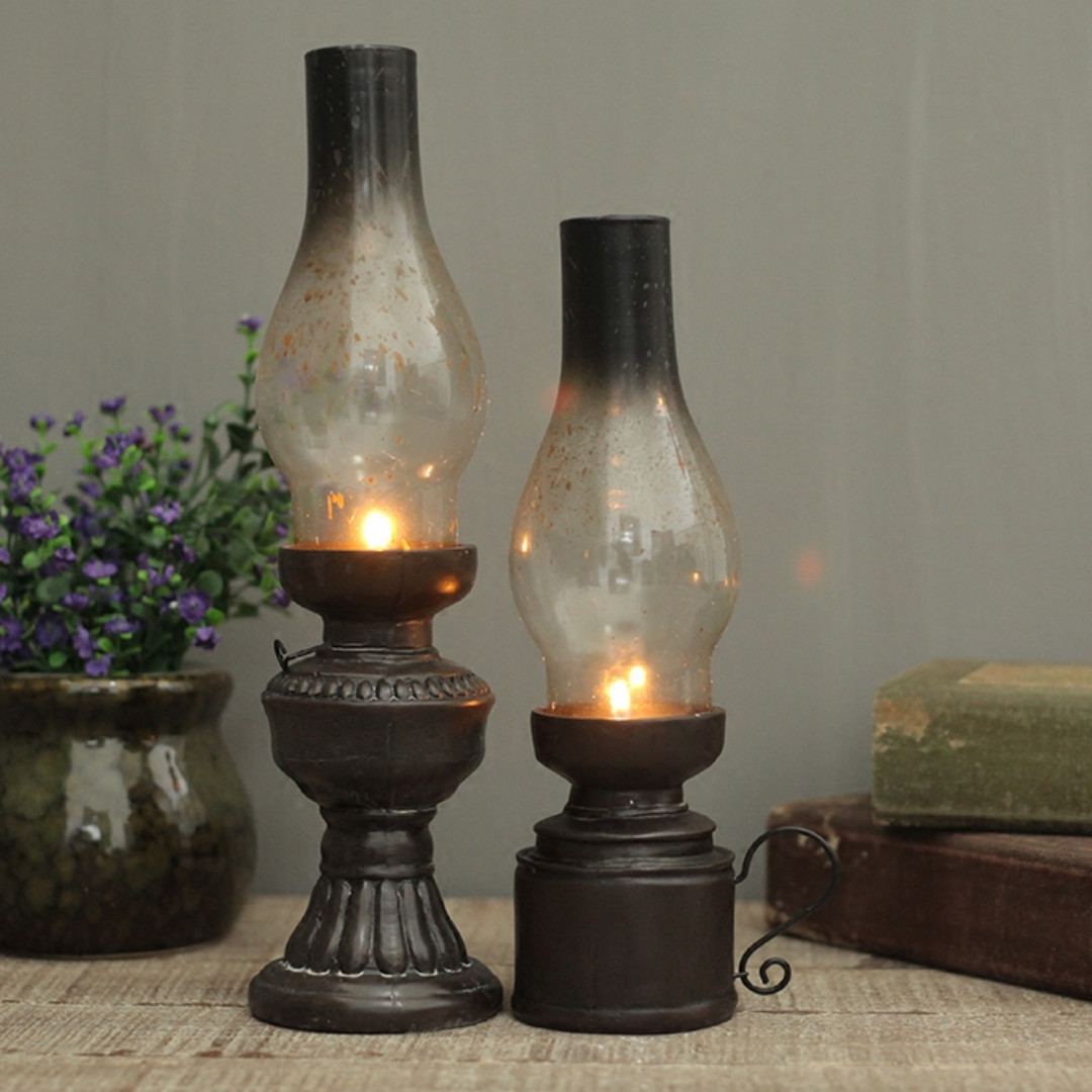 Modern Kerosene Lamp Vintage Kerosene Lamp Styled Candle Holder