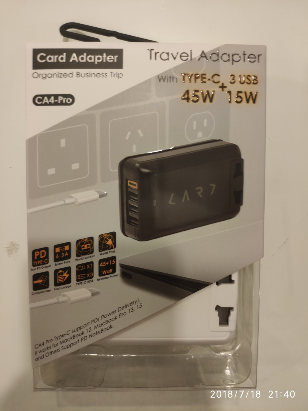 Coles Travel Adaptor Travel Adaptor With Type C And 3 Usb Ca4 Pro