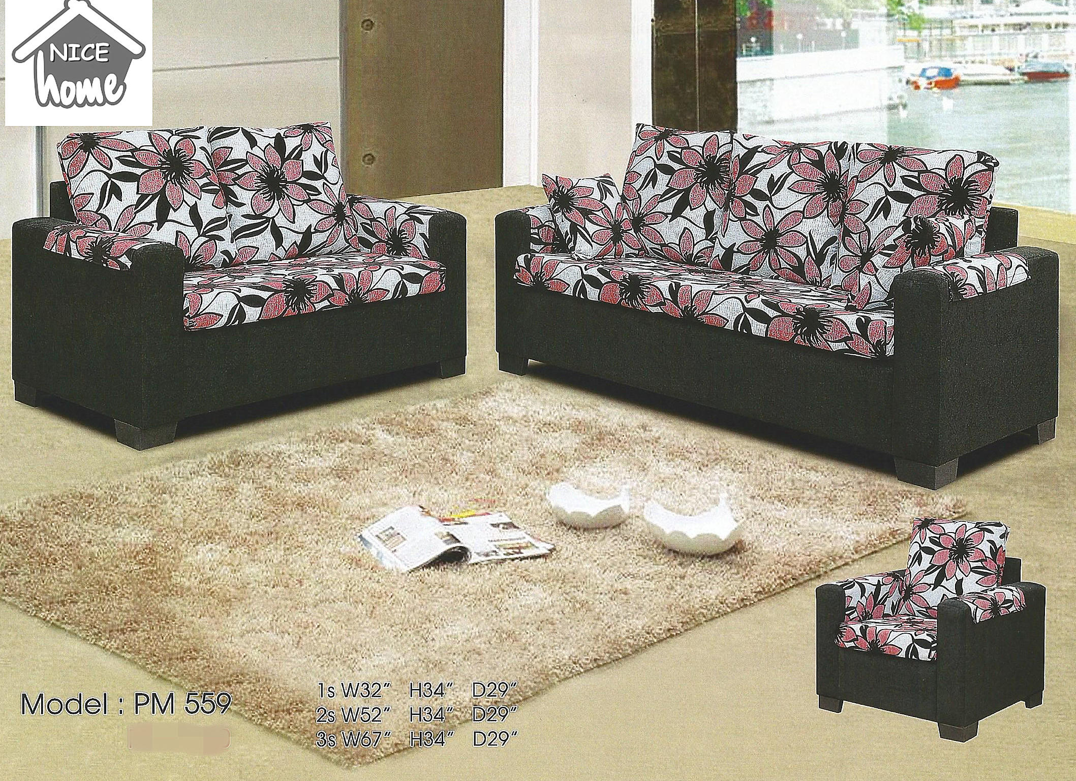 Sofa Set Ansuran Bulanan Harga Bulanan Rendah 559 Home Furniture Furniture On Carousell