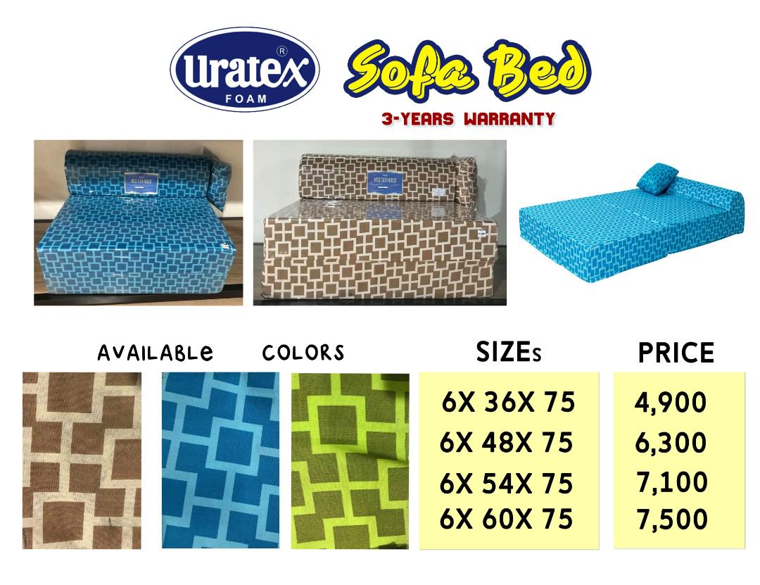 Uratex Sofa Bed Queen Size Price Uratex Sofa Bed And Durabox On Carousell