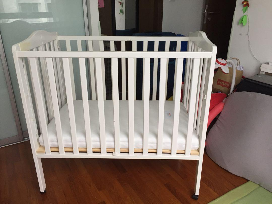 Baby Cots That Attach To Beds Baby Cot With Mattress Babies Kids Cots Cribs On Carousell