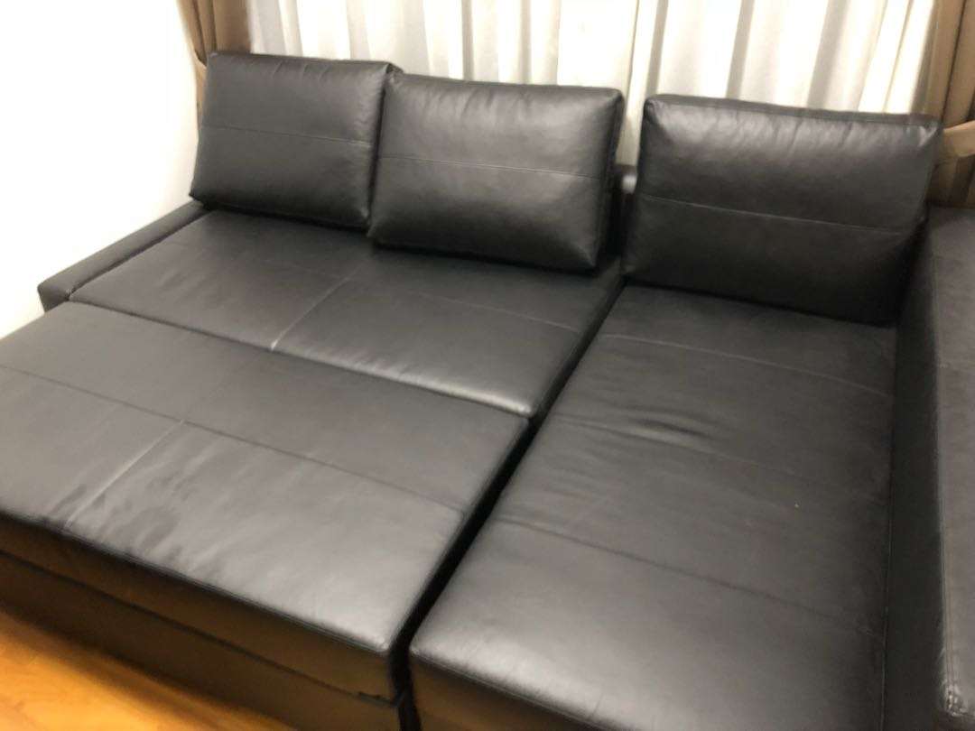 Bettsofa Ikea Friheten Corner Sofa Bed Friheten Ikea Black Leather Optic