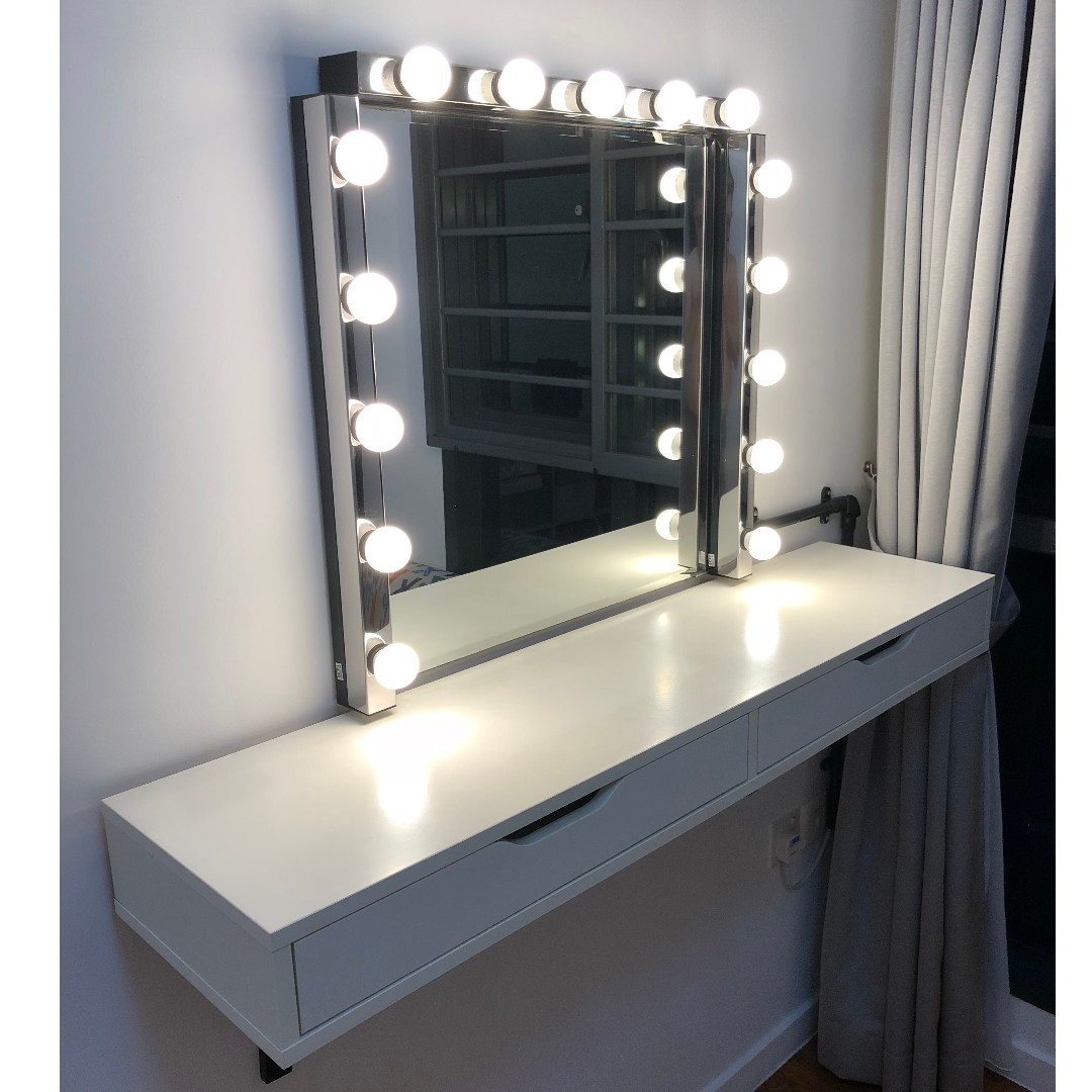 Ikea Dressing Table Ikea Dressing Table Cabaret Style With Lights Combination