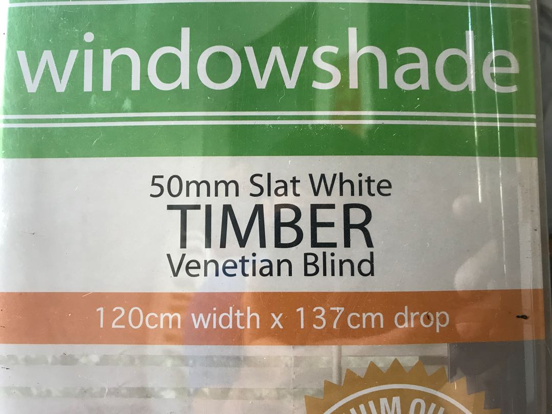 Spotlight Timber Venetians Windowshade 50mm Slat White Timber Venetian Blind