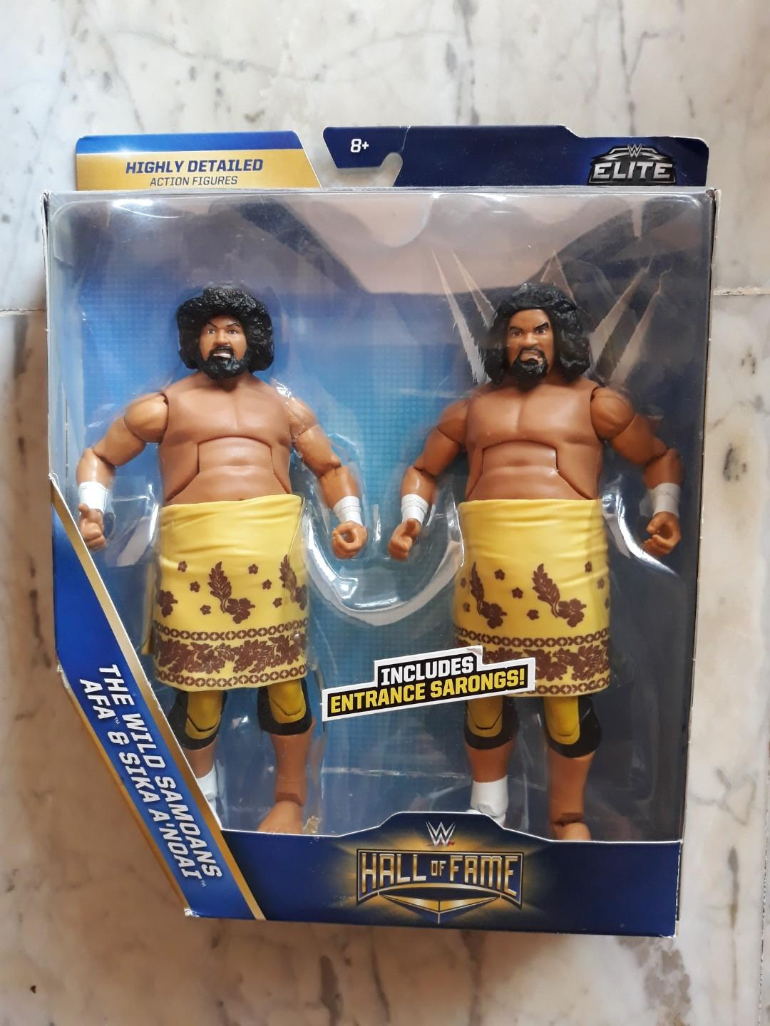 Wrestling Bettwäsche Wwe Wrestling Mattel Elite Exclusive Hall Of Fame Wild Samoans Figures Afa Sika Sport