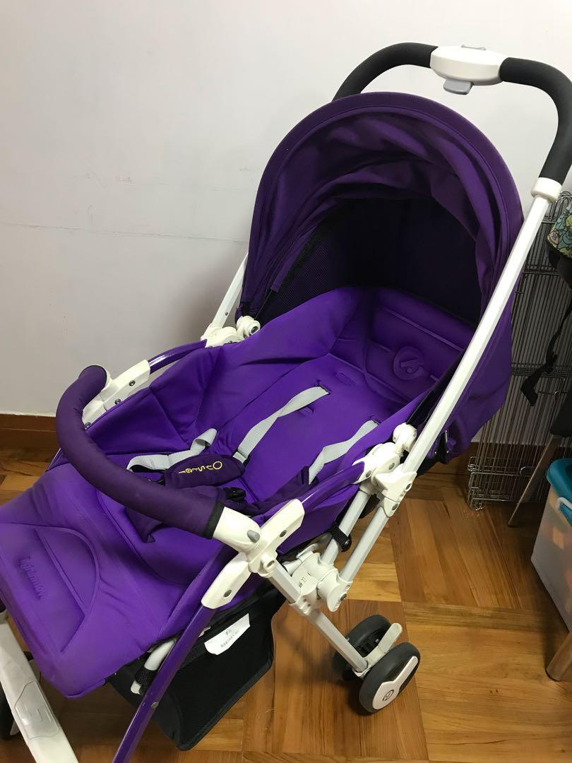 Oyster Pram Purple Babystyle Oyster Light N Move Bb車環保價 Babies Kids