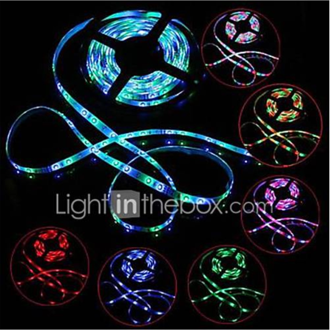 Led Light Strips Rgb 5m Led Light Strips Rgb Strip Lights Dimmable 100 240 V