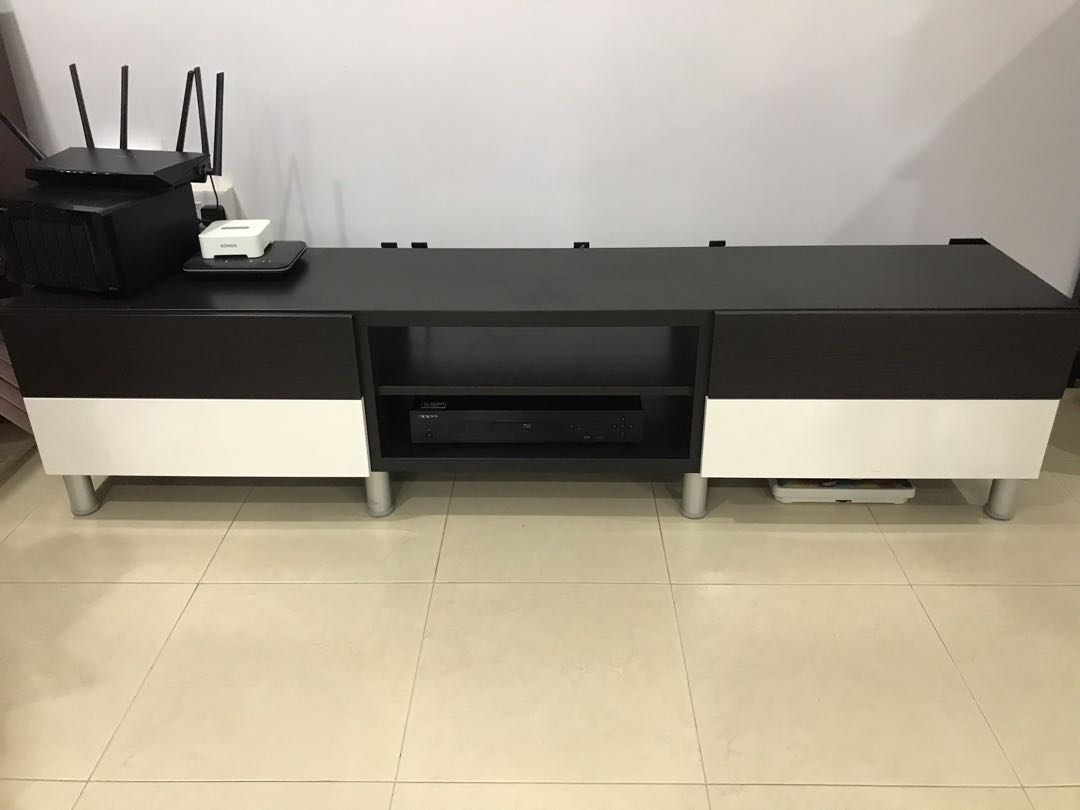 Besta Tv Ikea Besta Tv Console With Drawers Good Condition