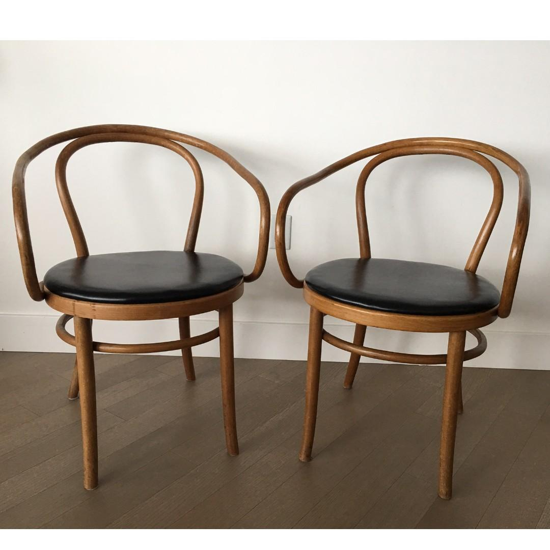 Thonet Jobs Authentic Thonet Chair X2 Bentwood B 9 By Michael Thonet