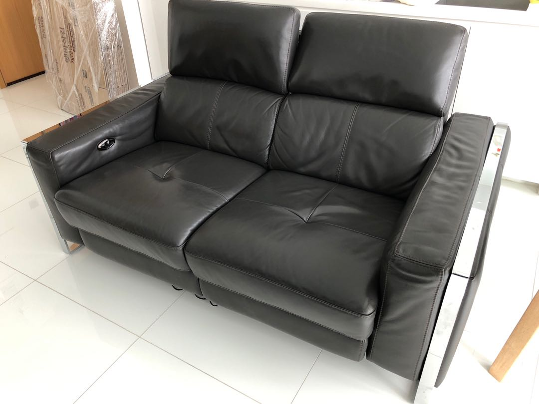 Auto Couch Great Condition Full Leather Auto Recliner Sofa