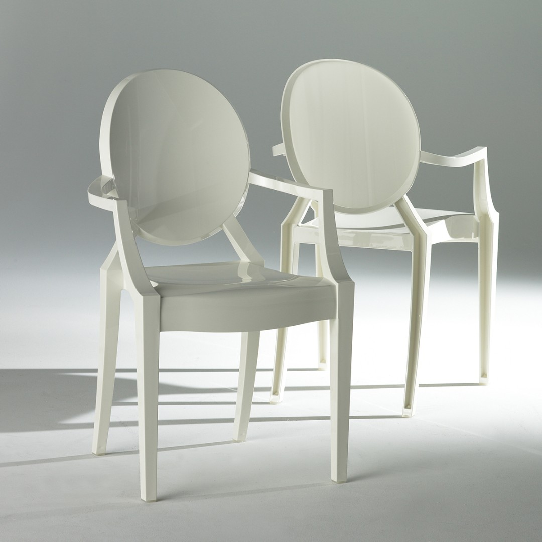 Philippe Starck Ghost Chair Kartell White Ghost Chairs By Philippe Starck X 4