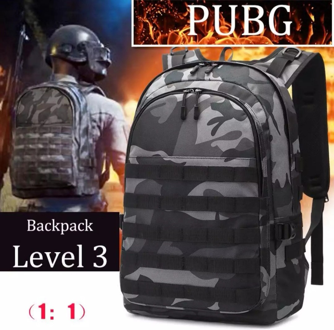Travel Rucksack Pubg Battlefield Backpack Level 3 Multifunction High Capacity Camouflage Travel Rucksack Usb