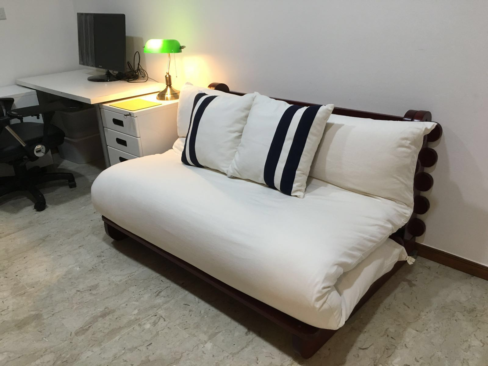 Queen Size Futon Sofa Bed Pinewood Base Furniture Sofas On Carousell