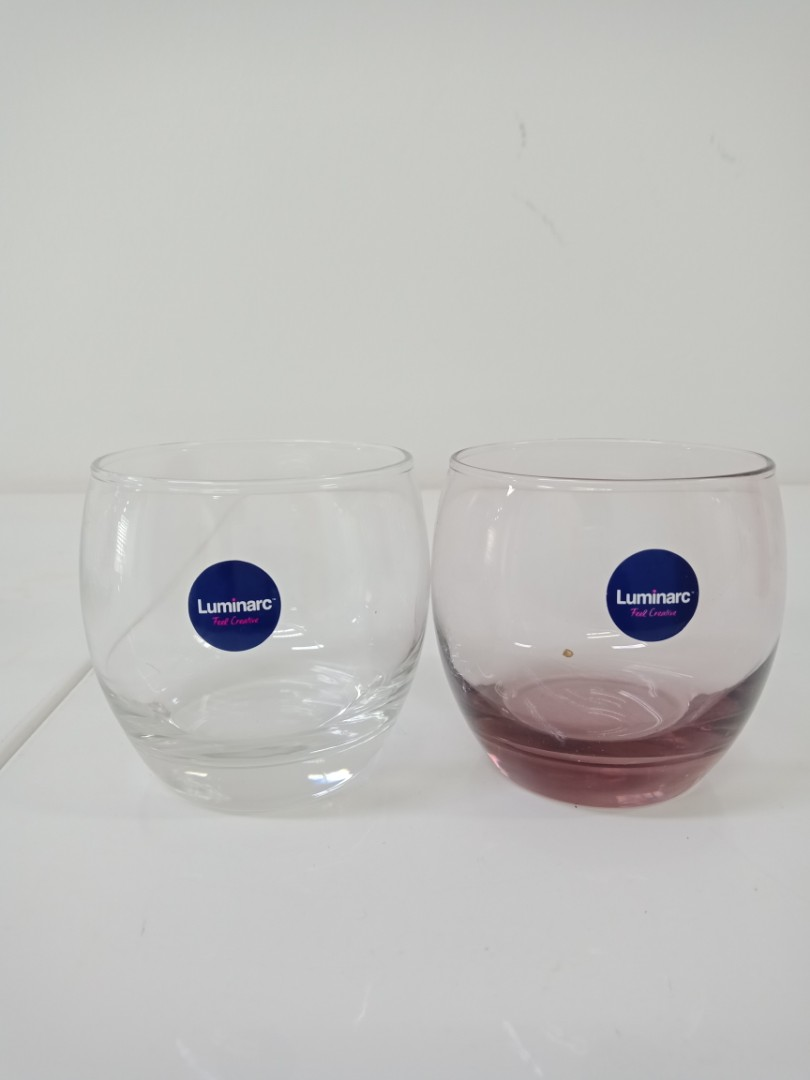 Luminarc Glass Brand New Glass Luminarc Tumblers Glasses Set Of 3