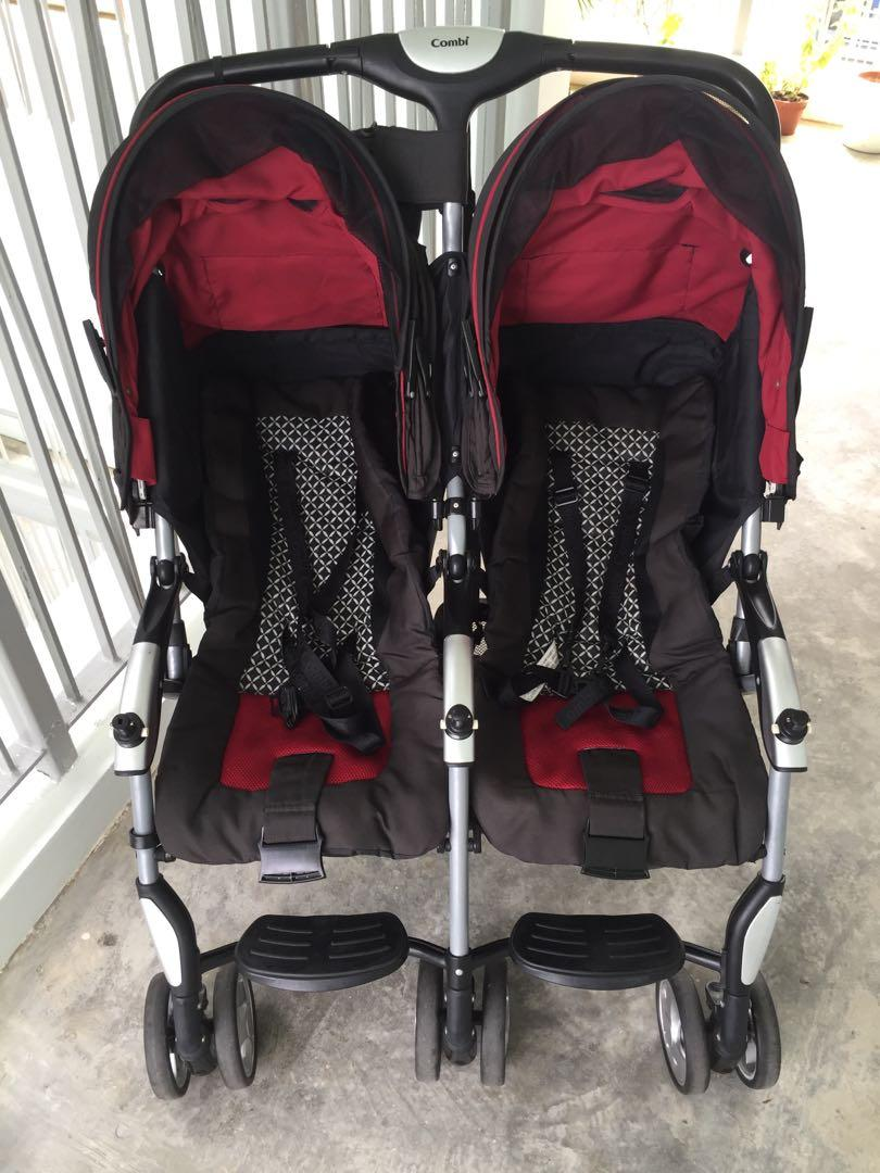 Combi Double Stroller Side By Side Combi Side By Side Double Twin Stroller Babies Kids