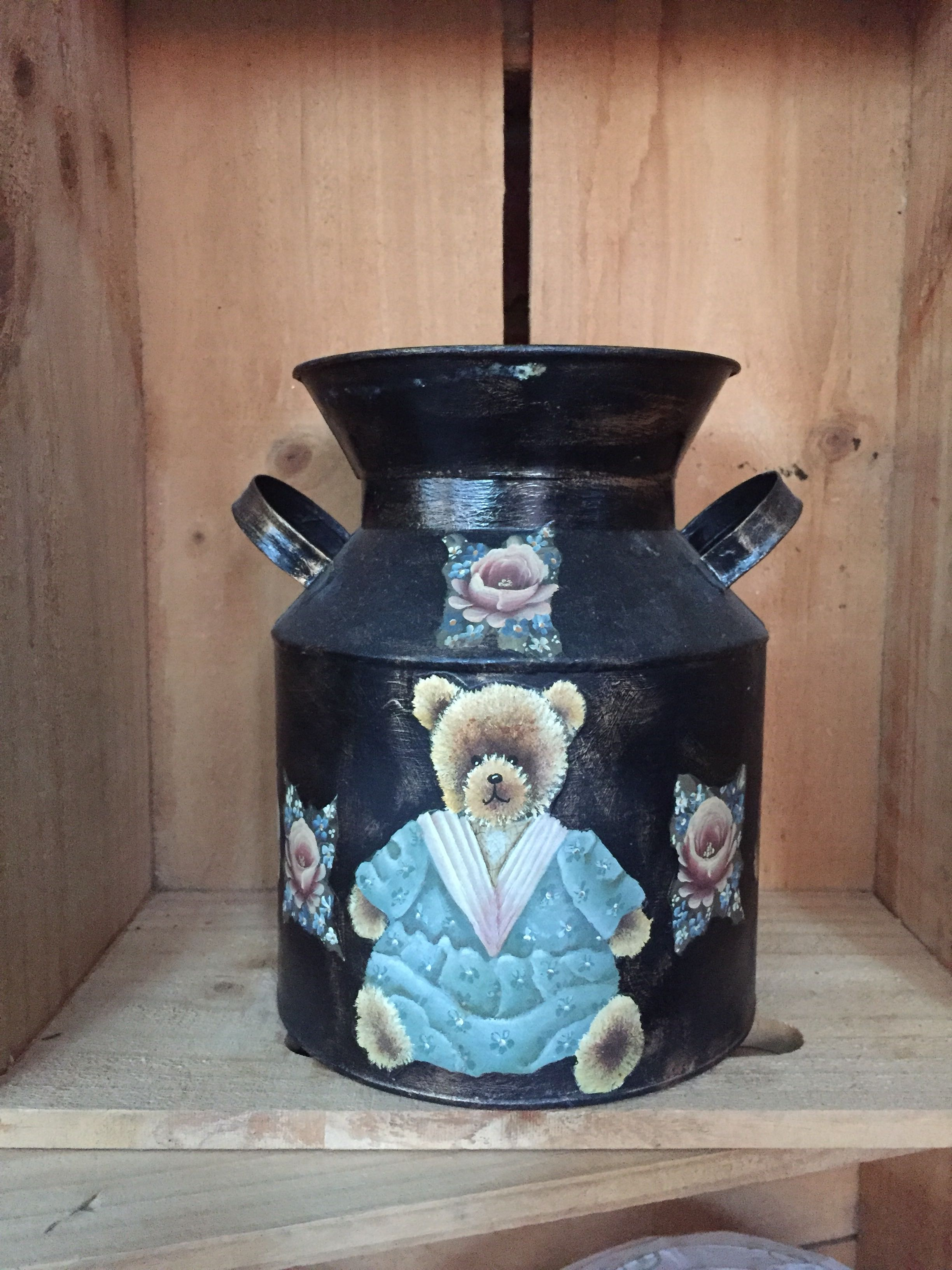 Decorative Milk Urn Decorative Milk Can With Teddy Bears