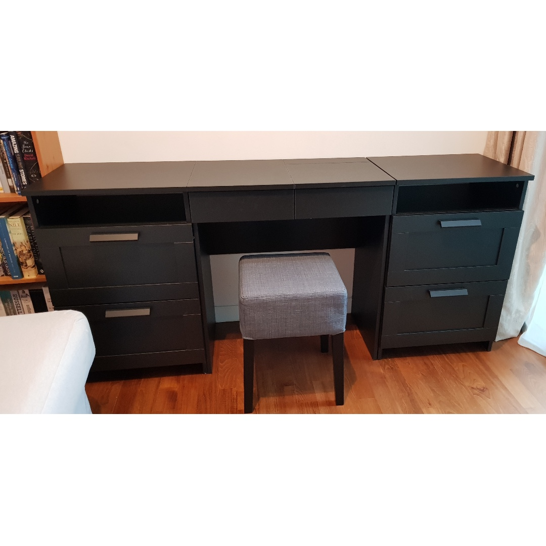 Ikea Dressing Table Ikea Brimnes Dressing Table 2x Chests Of Drawers 1x Stool