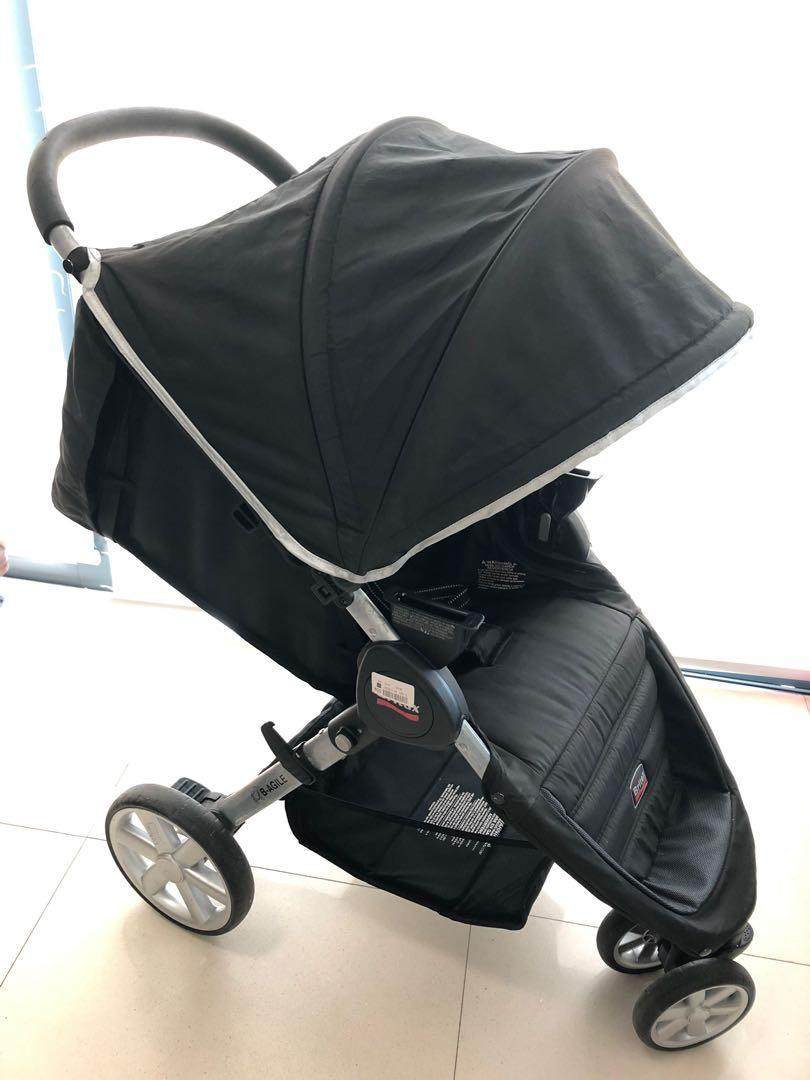 Britax Car Seat With Stroller Britax B Agile Stroller With Car Seat Adapter Babies Kids