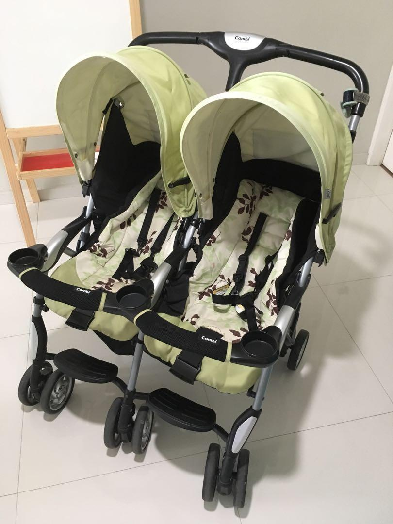 Combi Double Stroller Side By Side Combi Twin Cosmo Stroller