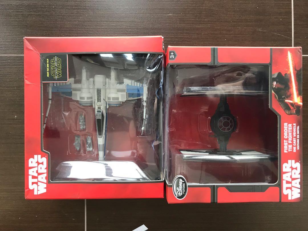 Disney Diecast X Wing Disneyland Store Exclsuive Star Wars X Wing Tie Fighter