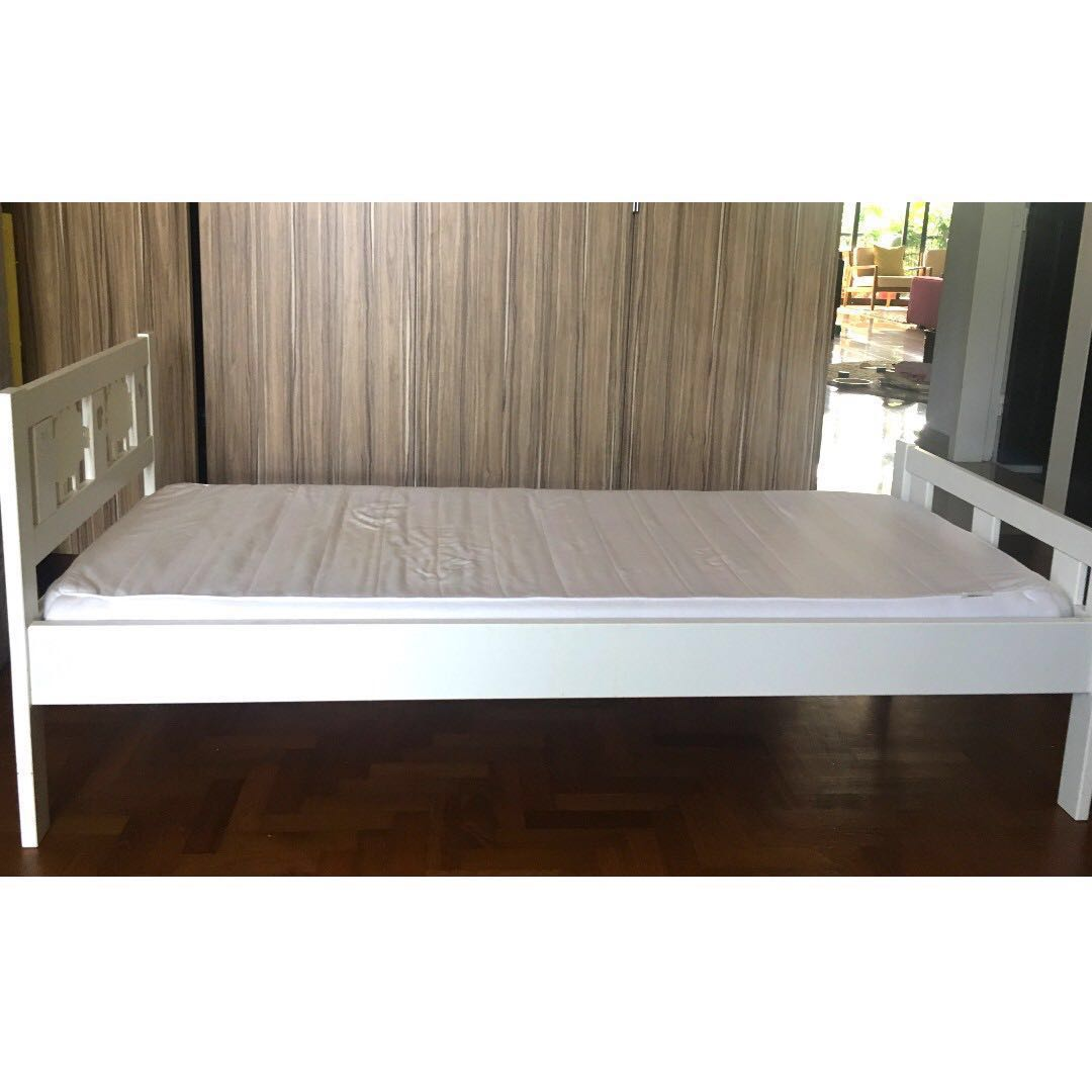 What Is The Length Of A Single Bed Kids Bed Frame Ikea Kritter Without Mattress