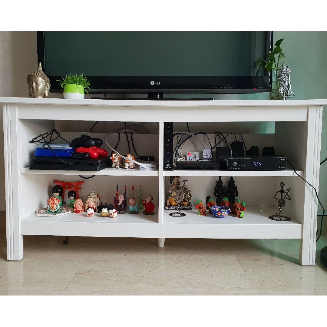 Ikea Bank Hotline One White Ikea Tv Stand With 2 Shelves Furniture Others On