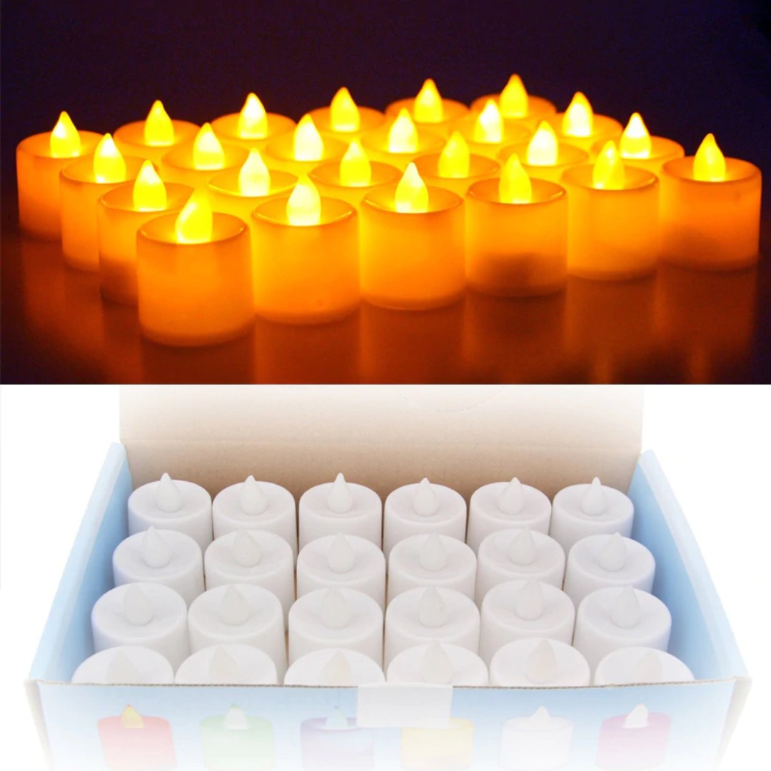 Lot Bougie Led 22pcs Lot Flickering Tea Light Include Battery Remote Control Led Candle Bougie Velas Electric Chandelle Party Birthday Candles