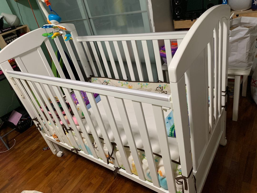 Baby Cots That Attach To Beds White Baby Cot