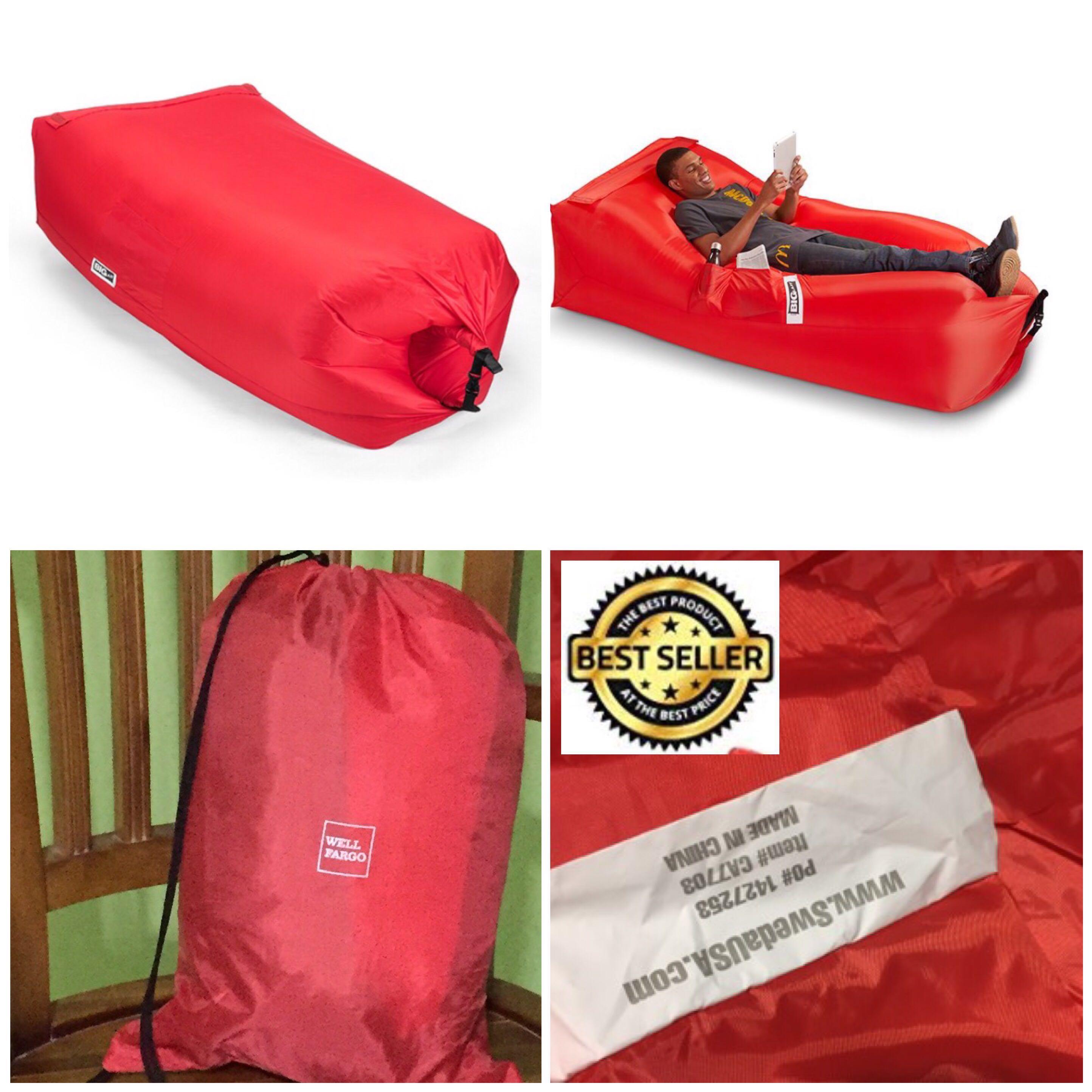 Big Inflatable Couch Inflatable Lounger Couch Sofa With Portable Carry Bag