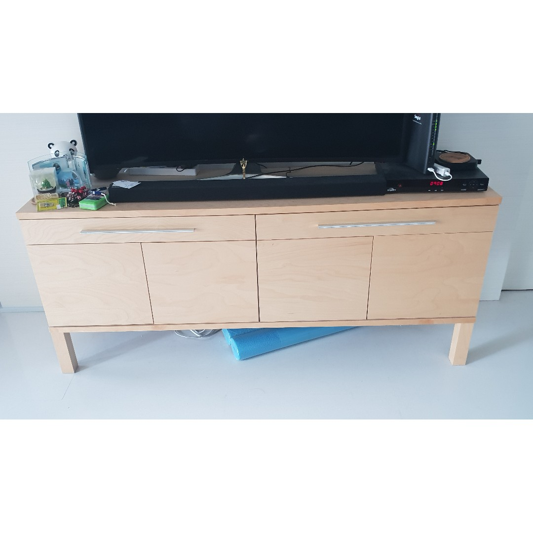 Ikea Tv Sideboard Beautiful Beach Wood Ikea Sideboard Tv Cabinet