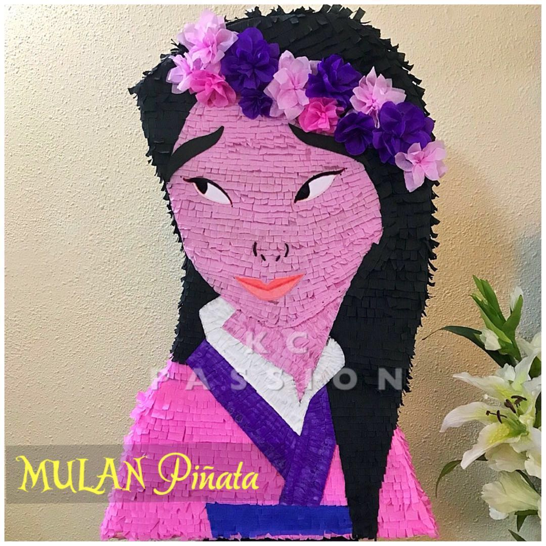 Party Pinata Mulan Party Pinata PiÑata Customized Personalized Pull String Hit Type Party Piñata Decoration Table Center Piece