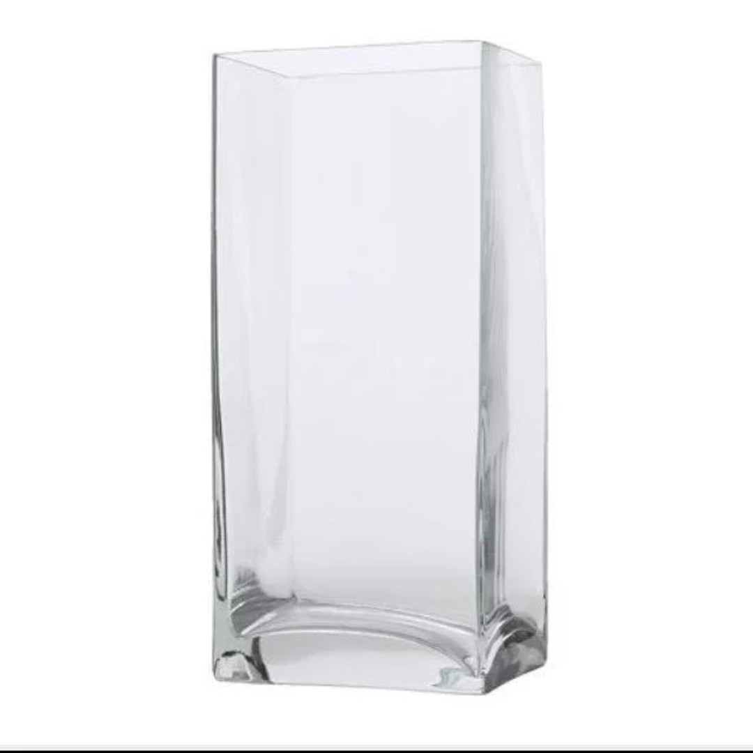 Glass Vases Ikea 2x Ikea Rektangel Vases Large 22cm Hight Discontinued