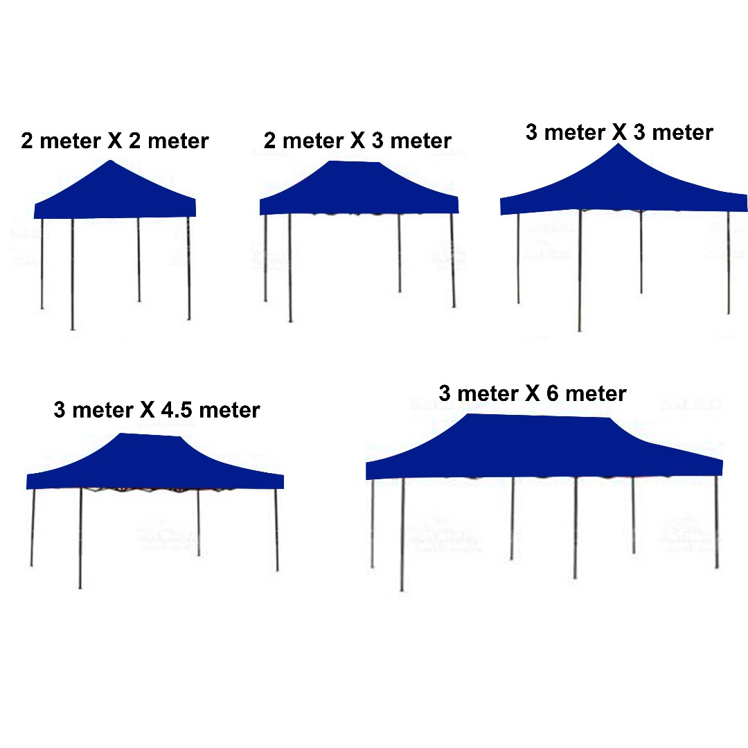 2m X 3m 2m X 3m Heavy Duty Powder Coated Tent With Water Proof Canopy