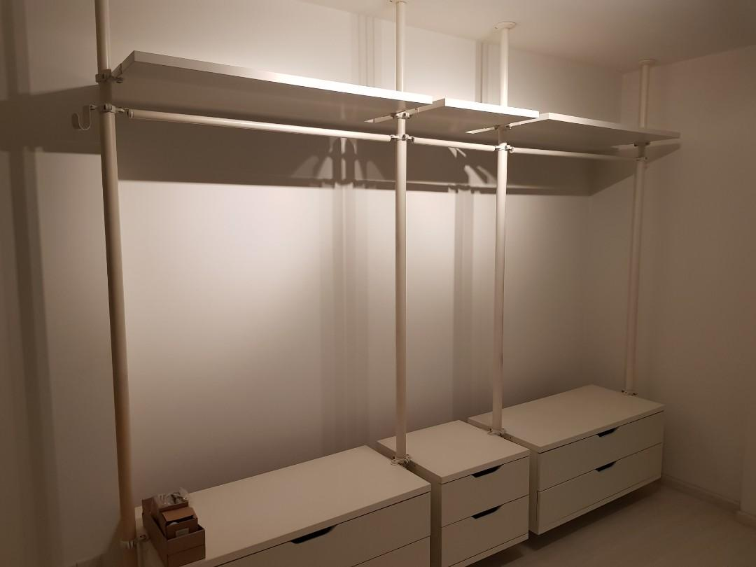 Ikea Home Filing System Ikea Pole System Walk In Wardrobe Furniture Shelves