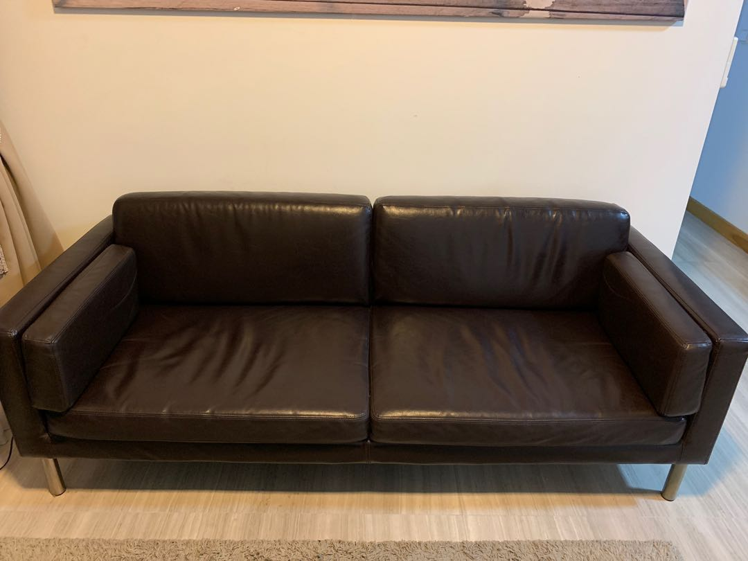 Ikea Sofa Säter Ikea Sater 2 Seater Faux Leather Sofa