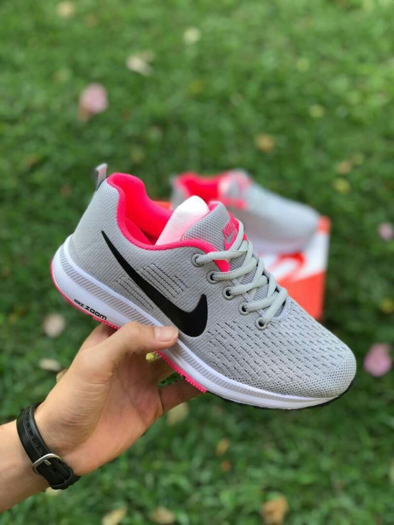 Nike Zoom Grey And Green Nike Zoom Grey Pink Women S Fashion Shoes On Carousell