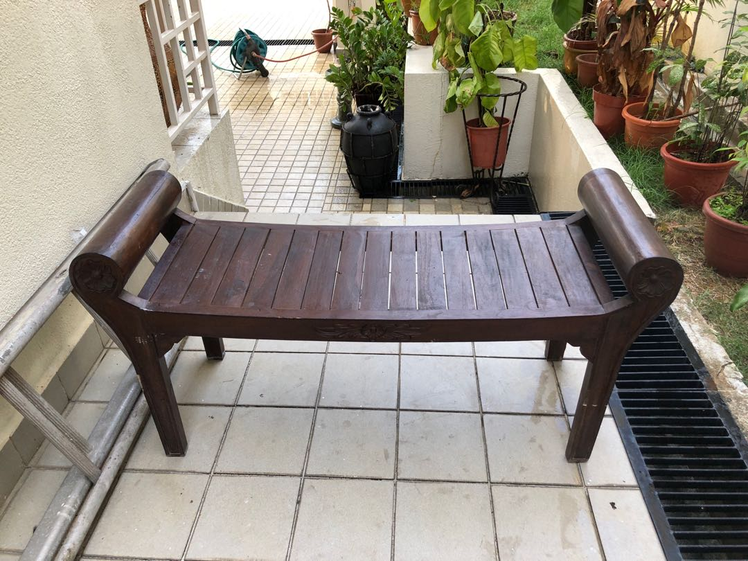 Wooden Bench Table Antique Indonesian Wooden Bench Table