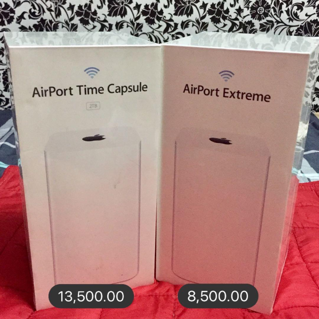 Red 1 Next To Time Capsule Apple Airport Time Capsule Airport Extreme On Carousell