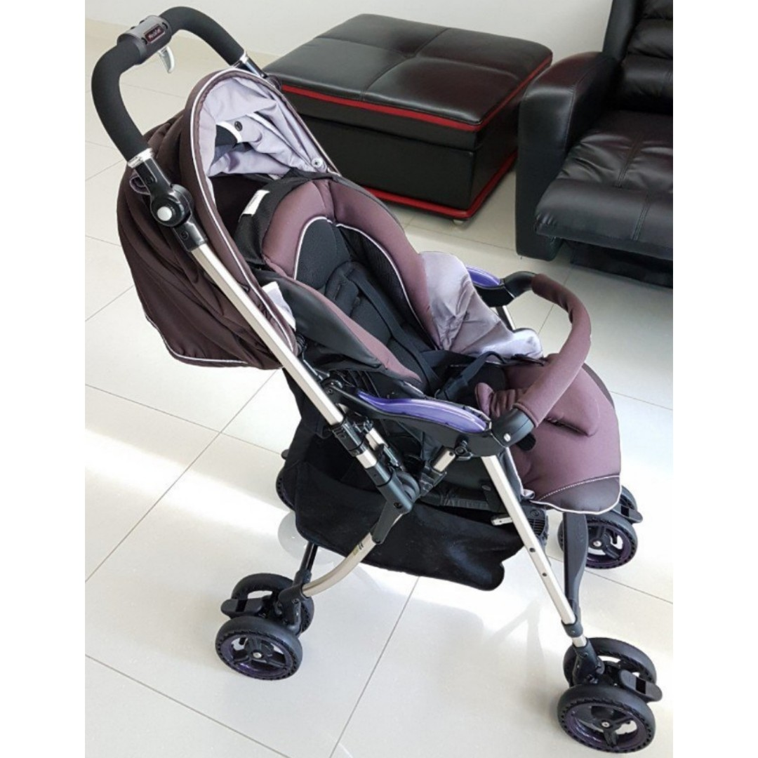 Combi Stroller Models Very Good Condition Combi Miracle Turn Stroller Purple