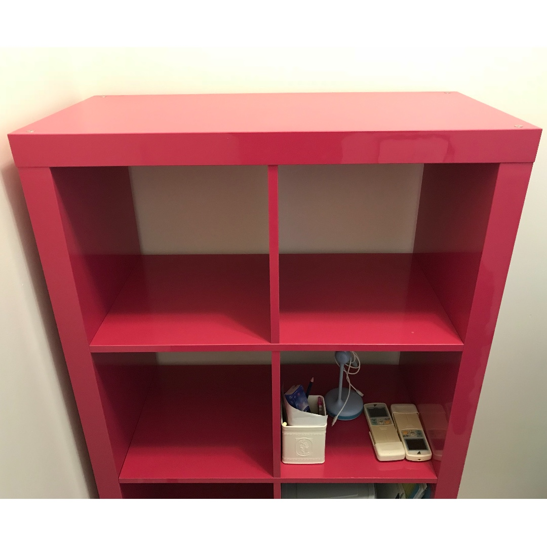 Ikea Kallax Hot Pink Shelf Shelves Ikea Kallax