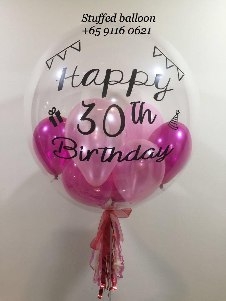Happy Birthday Balloon 30th Birthday 24 Inch Transparent Clear Balloon Design Craft Others On Carousell
