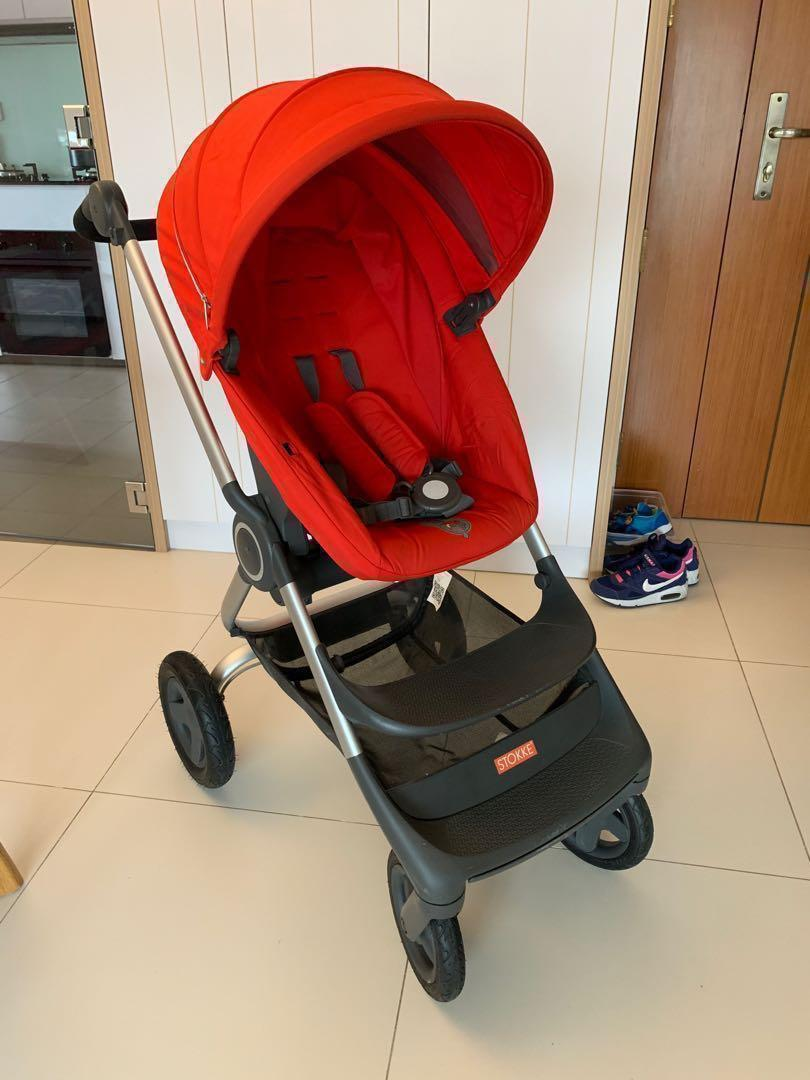 Stokke Scoot Buggy Board Baby Fair Promo Stokke Scoot V2 Red Color Includes Mosquito