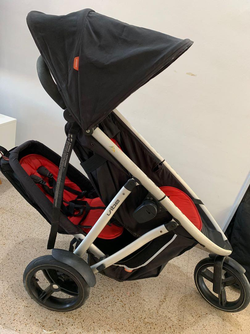 Phil And Teds Double Buggy Vibe Phil And Teds Vibe Double Stroller On Carousell