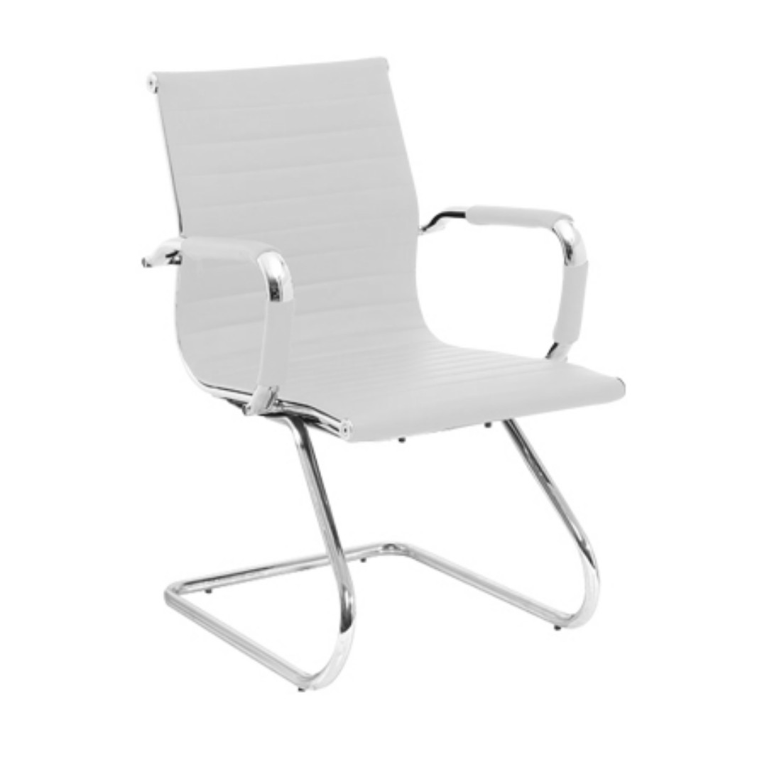 Ergodynamic Egc 139n Wht Leather Office Guest Chair White Office Furniture Visitor Chairs Furniture Home Living Office Furniture Fixtures On Carousell