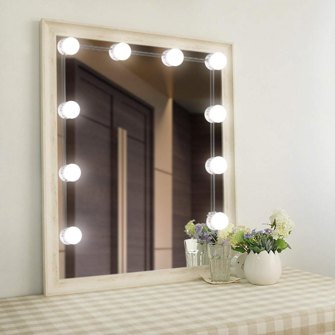 Decorative Mirror Table Touch Control Mirror With Lights For Makeup Dressing Table