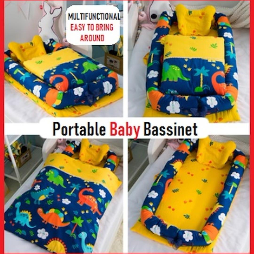 Baby Bassinet Linen Portable Baby Bassinet Babies Kids Cots Cribs On Carousell