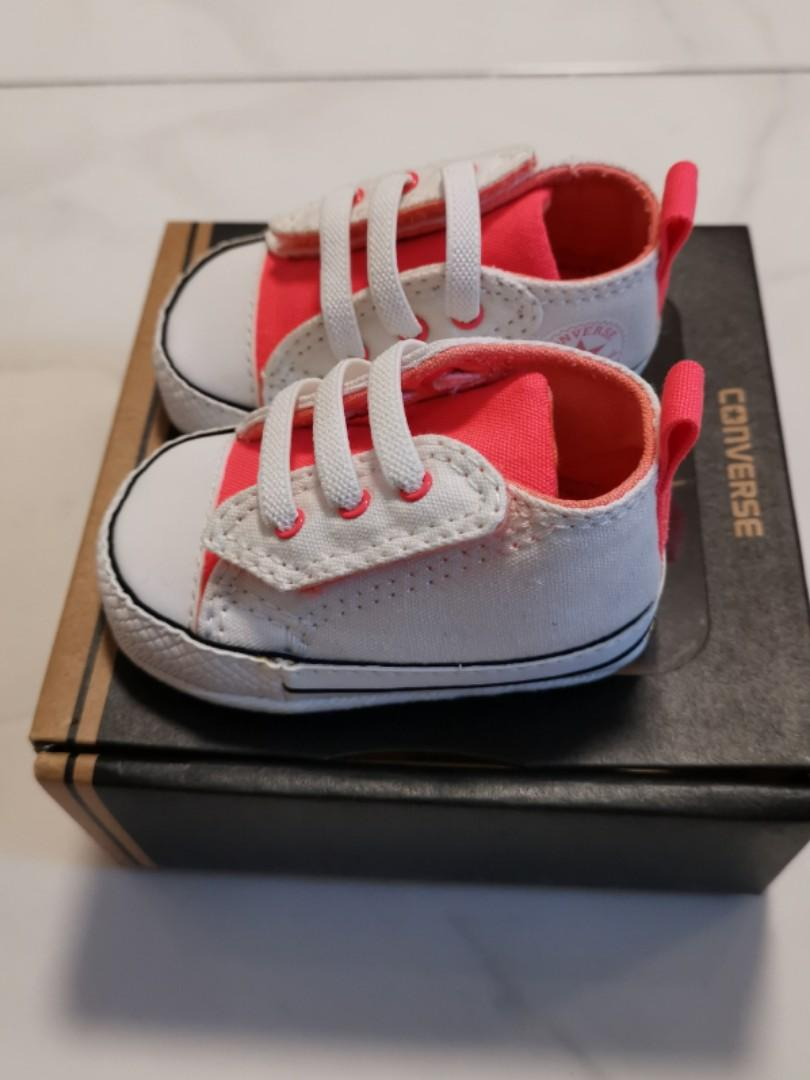 Baby White Converse Pram Shoes Baby Converse Babies Kids Babies Apparel On Carousell