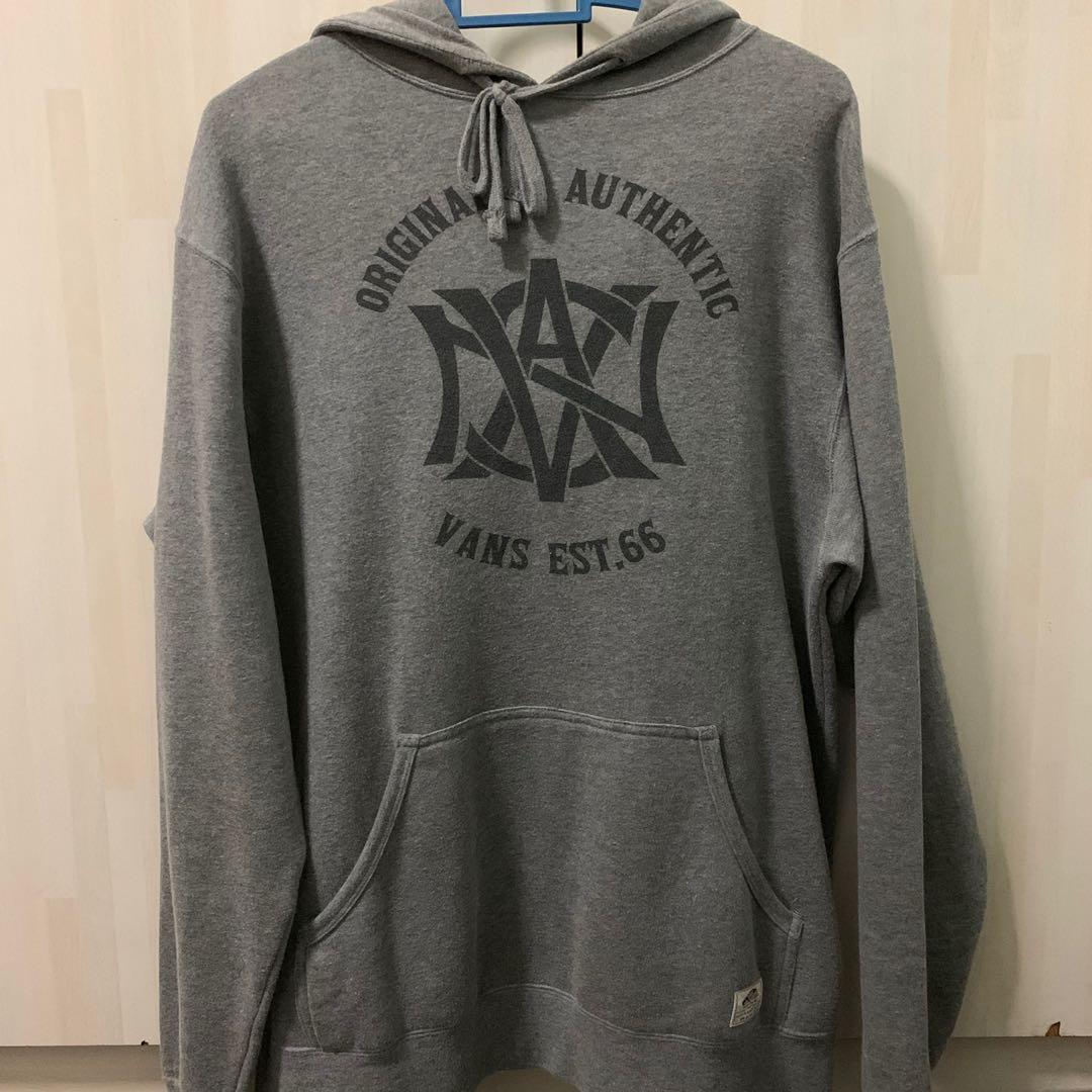 Pull Over Origin Vans Pullover Hoodie Grey Men S Fashion Clothes